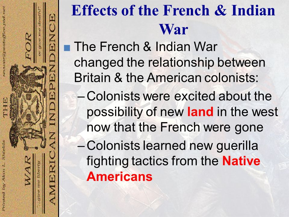 Effect of Colonists on Native Americans