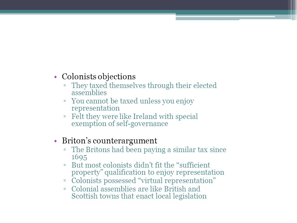 Briton's counterargument