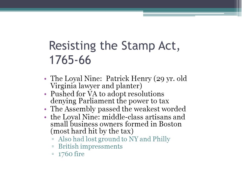 Resisting the Stamp Act, 1765-66