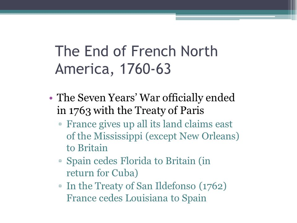 The End of French North America, 1760-63