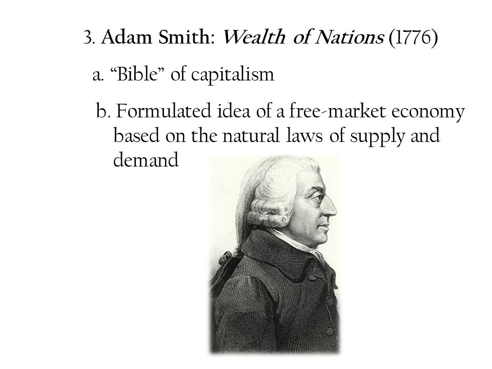 3. Adam Smith: Wealth of Nations (1776)