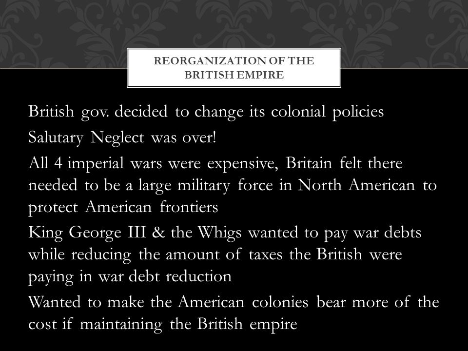 Reorganization of the British Empire