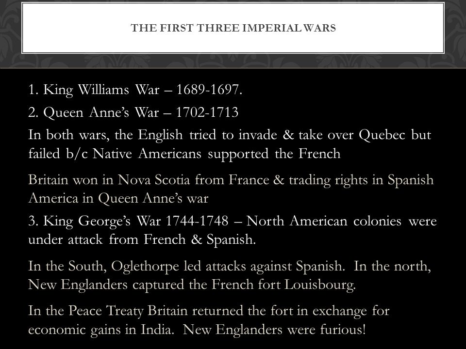 The First Three Imperial Wars