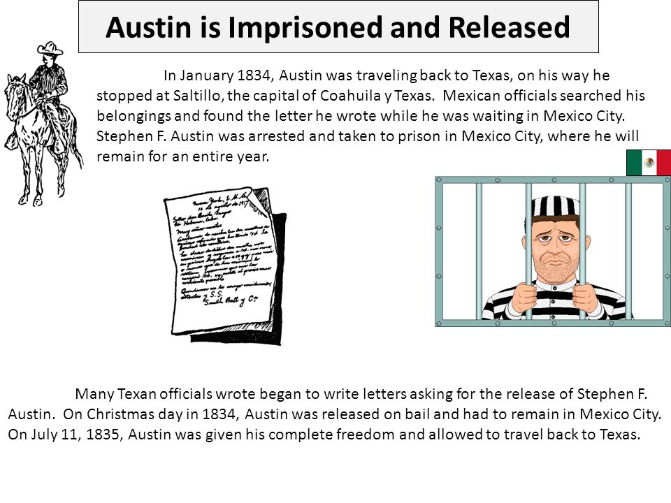 Austin is Imprisoned and Released