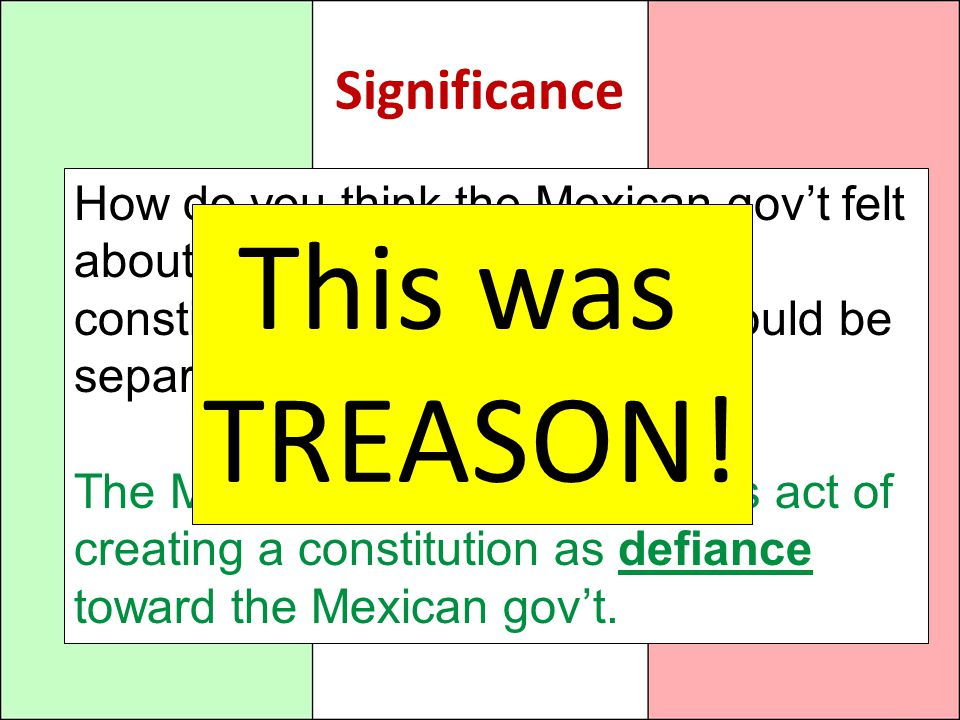 This was TREASON! Significance