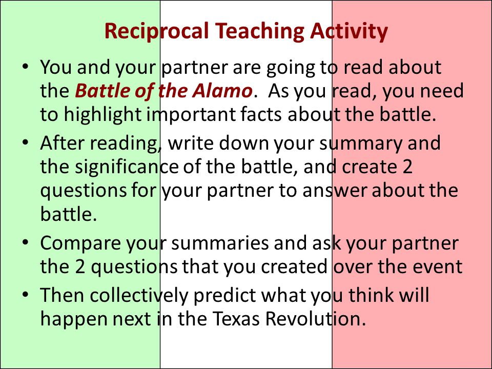 Reciprocal Teaching Activity