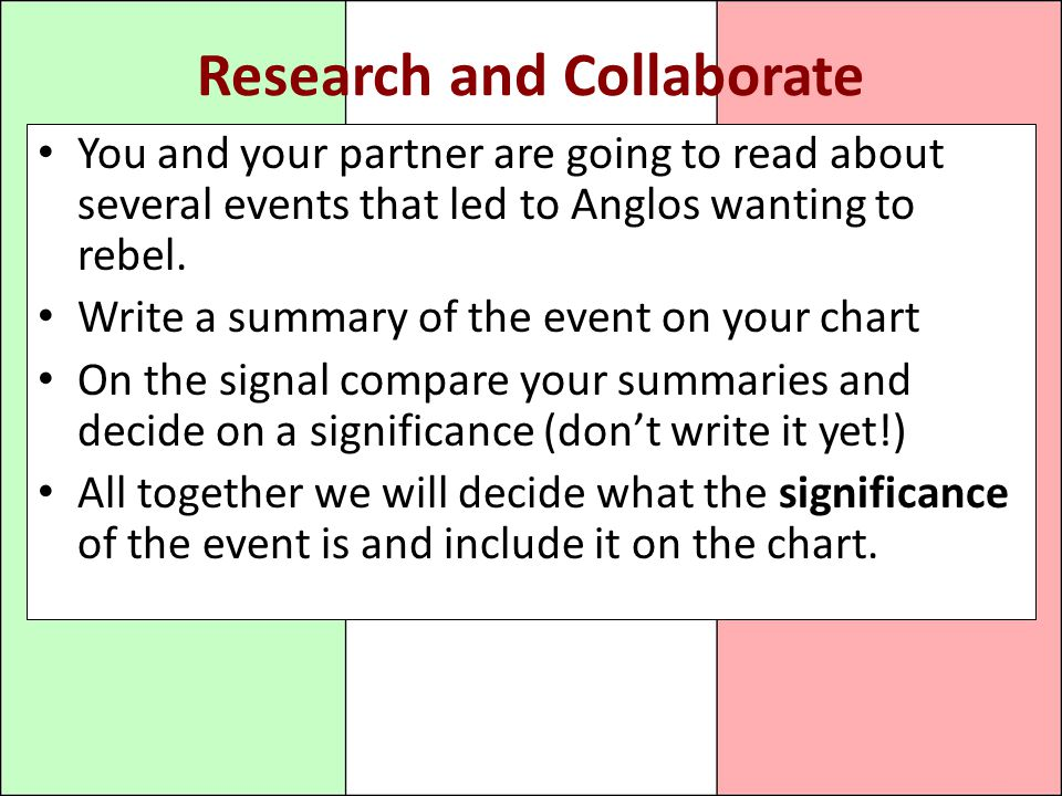 Research and Collaborate