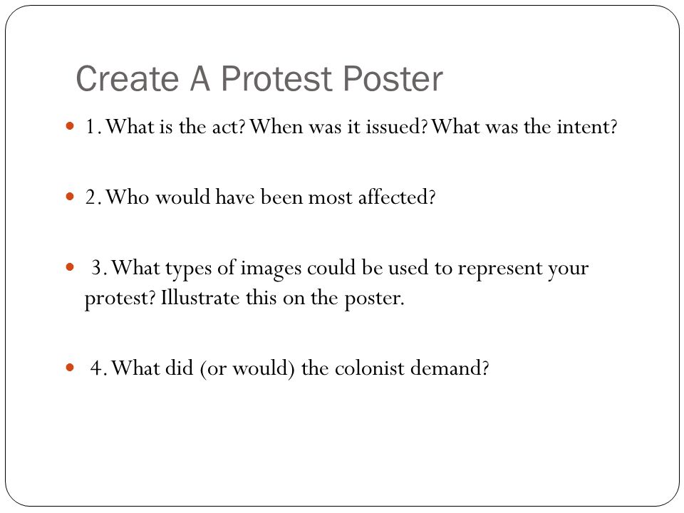 Create A Protest Poster
