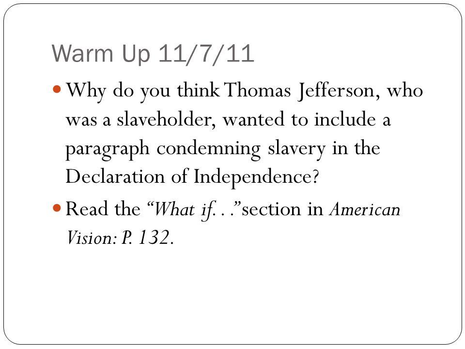 Warm Up 11/7/11