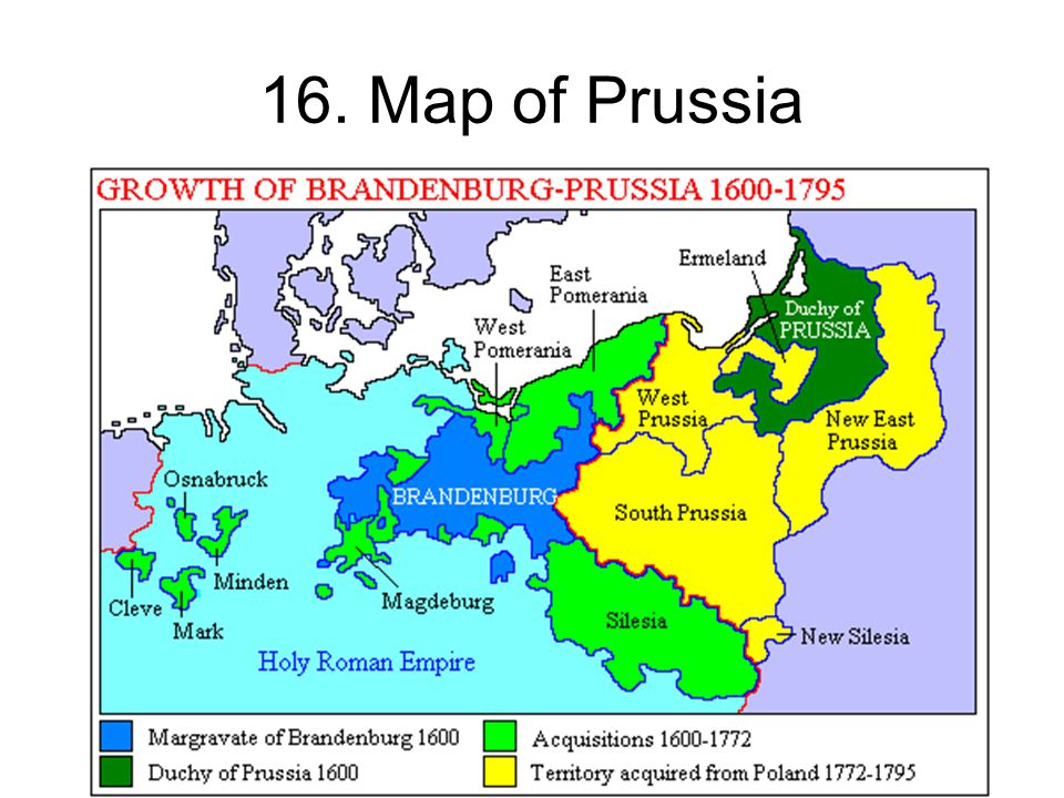 16. Map of Prussia 16. Map of Prussia Self explanatory