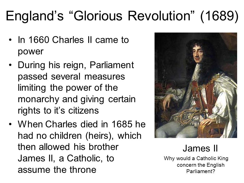 England's Glorious Revolution (1689)