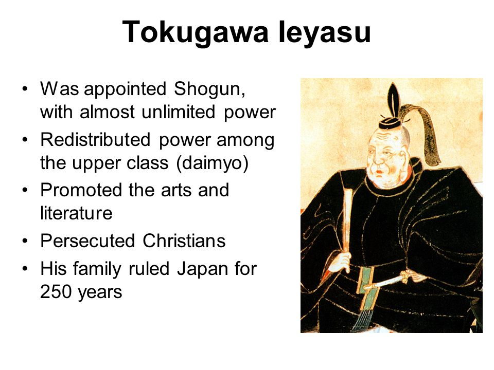 Tokugawa Ieyasu Was appointed Shogun, with almost unlimited power