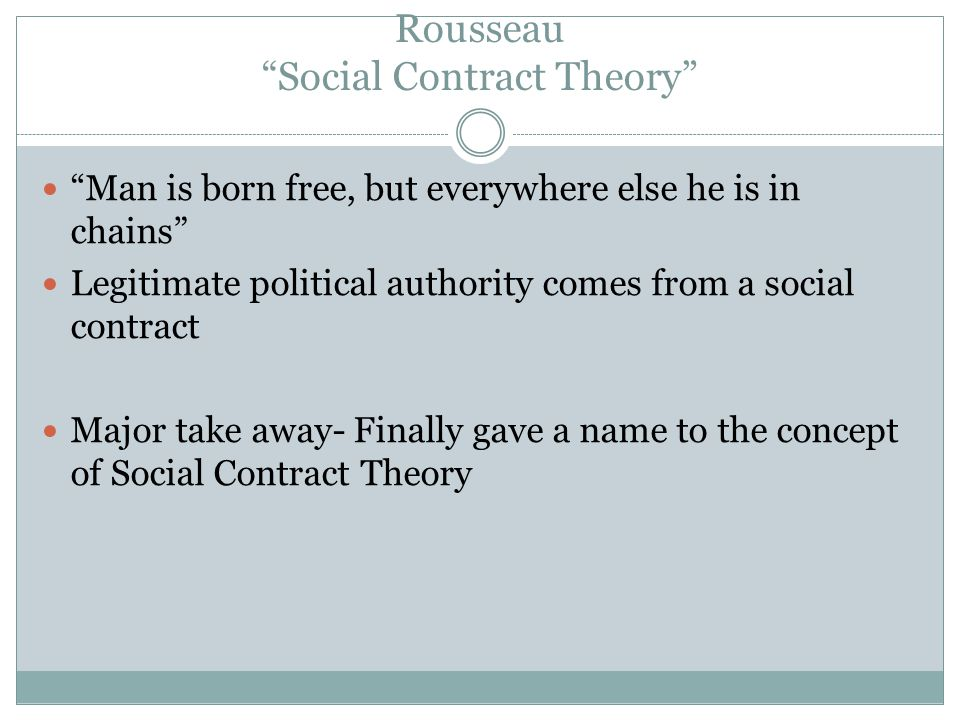 Rousseau Social Contract Theory