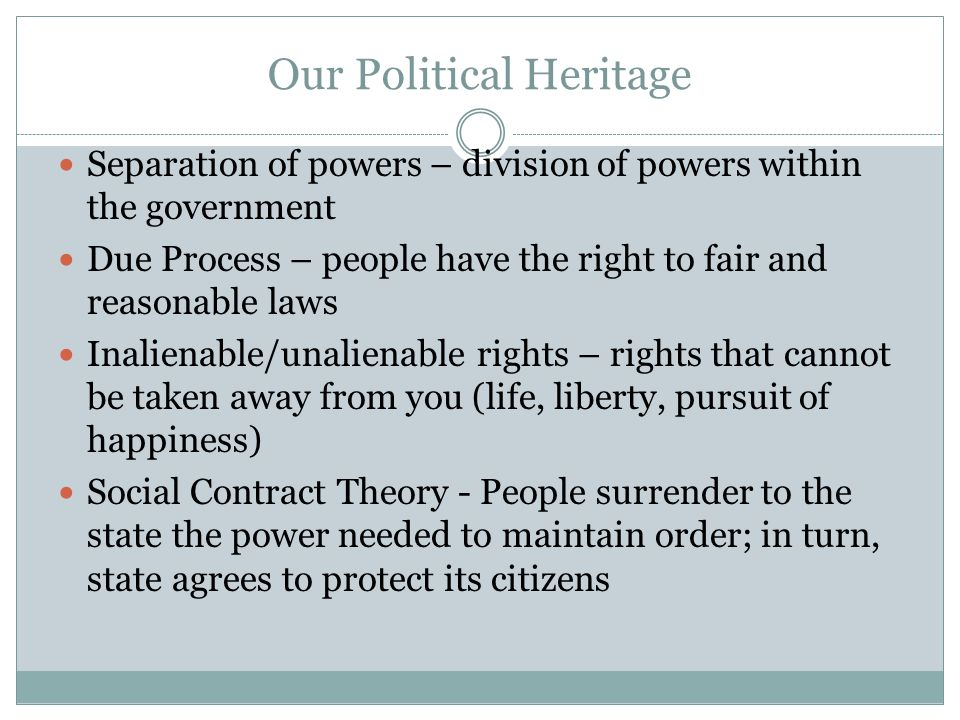 Our Political Heritage
