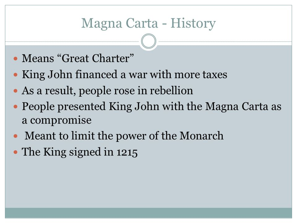 Magna Carta - History Means Great Charter