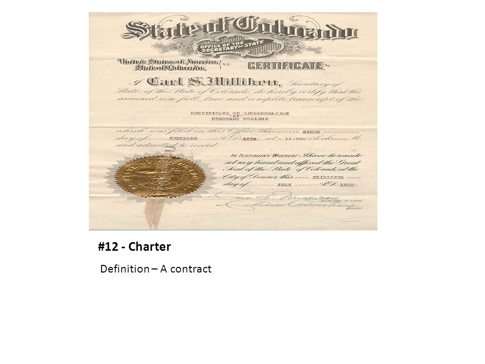 #12 - Charter Definition – A contract