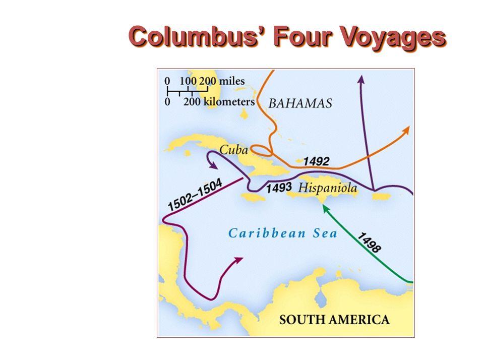 Columbus' Four Voyages
