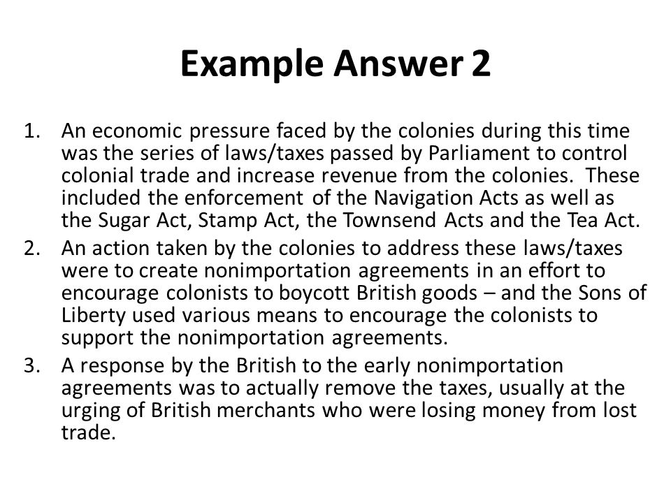 Example Answer 2