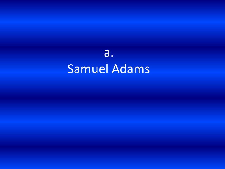 a. Samuel Adams