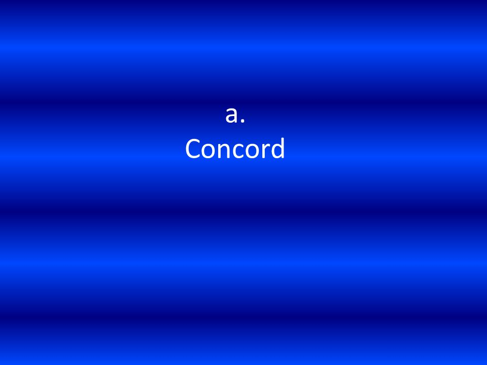 a. Concord