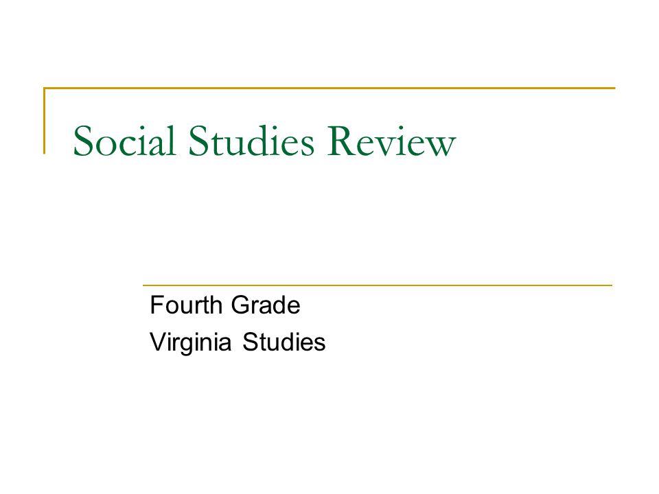 Fourth Grade Virginia Studies