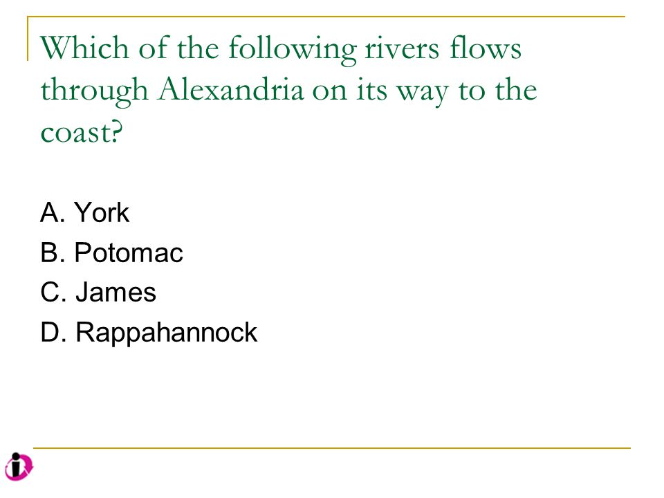 Which of the following rivers flows through Alexandria on its way to the coast