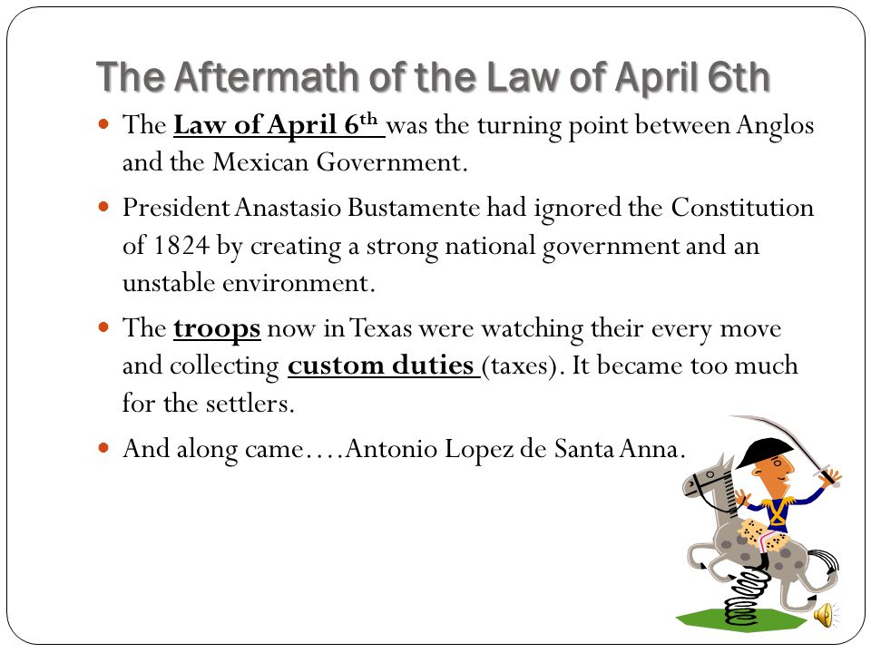 The Aftermath of the Law of April 6th