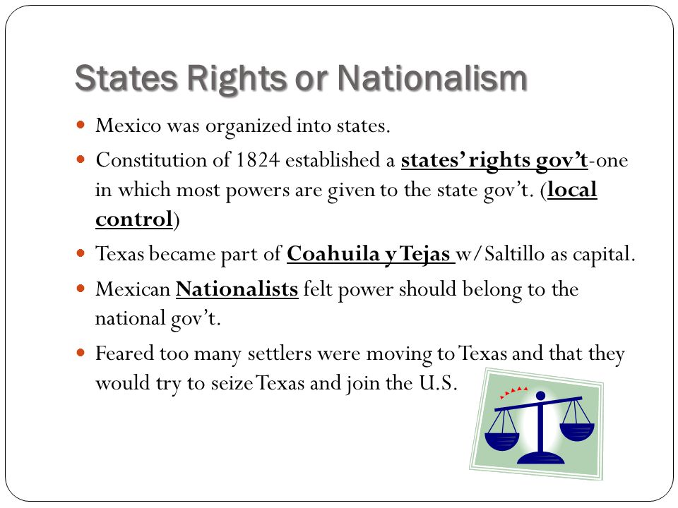 States Rights or Nationalism