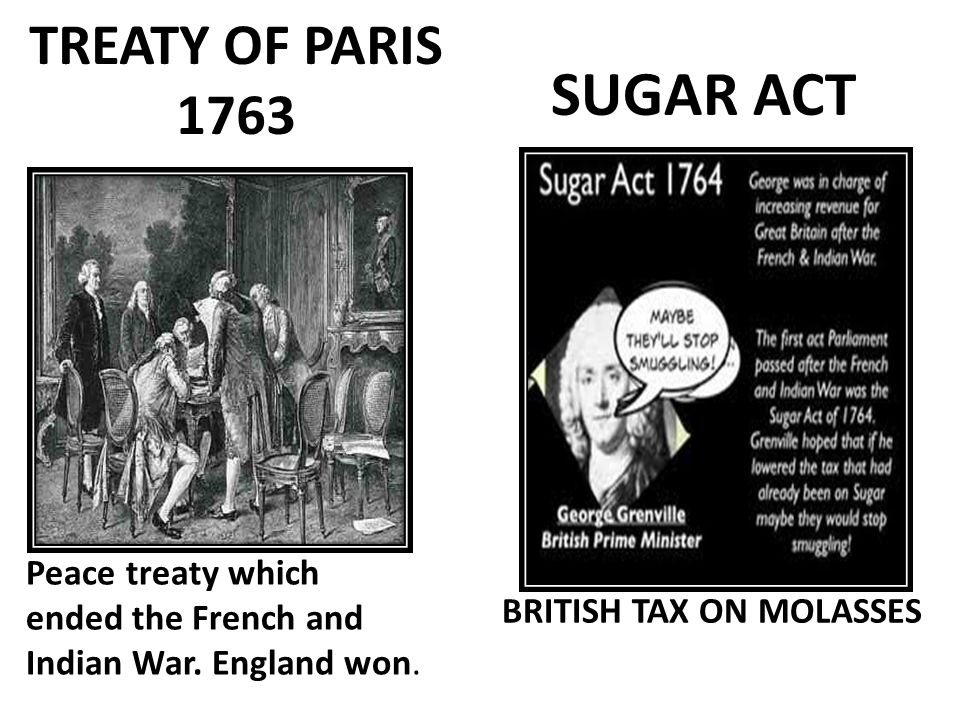 SUGAR ACT TREATY OF PARIS 1763
