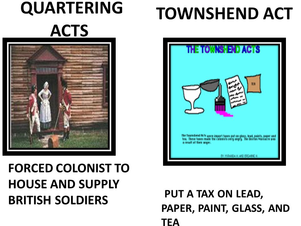 QUARTERING ACTS TOWNSHEND ACT