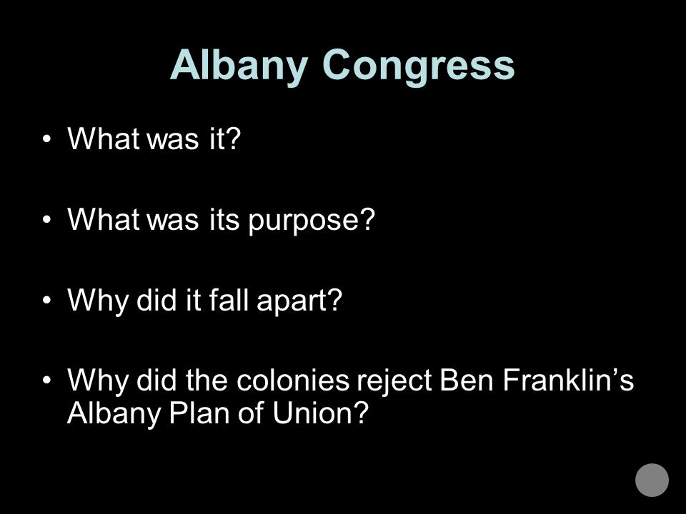 Albany Congress What was it What was its purpose