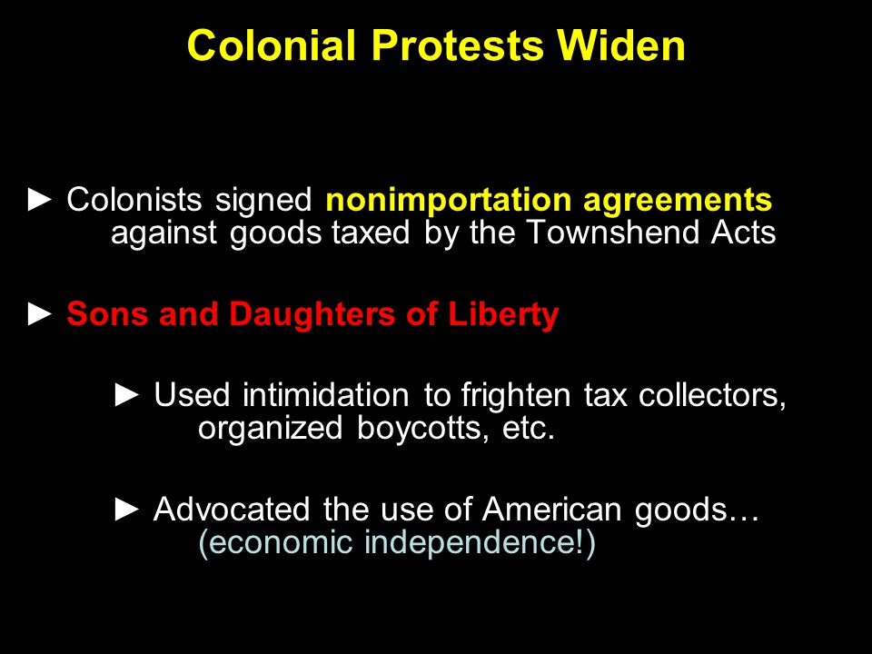 Colonial Protests Widen