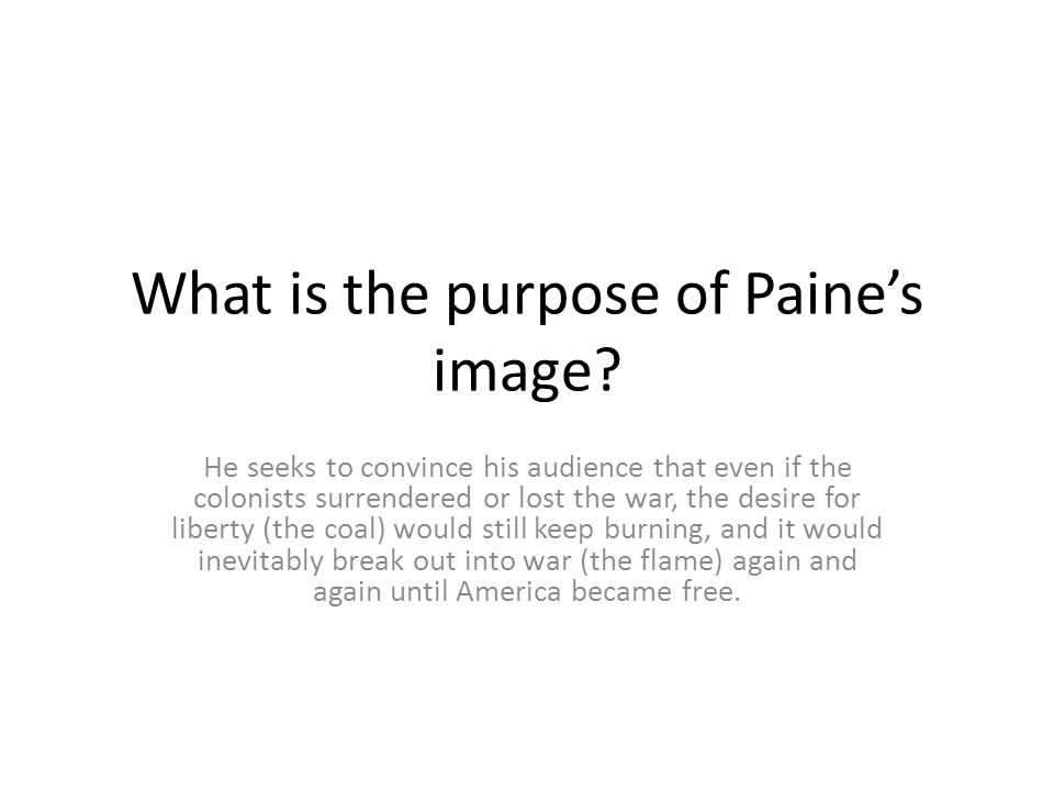 What is the purpose of Paine's image