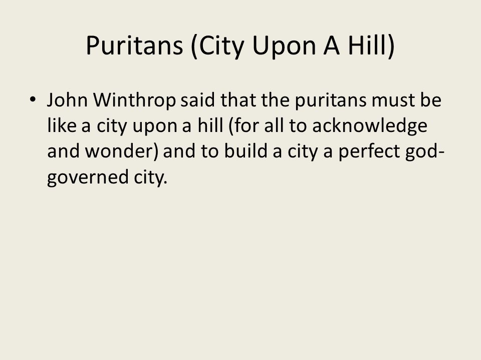 Puritans (City Upon A Hill)