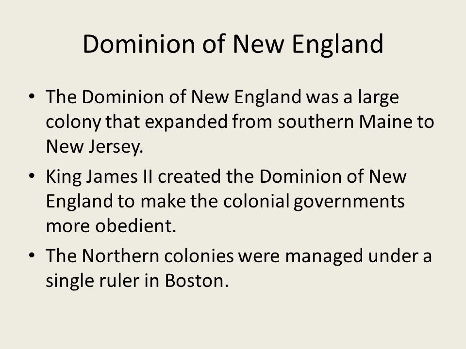 Dominion of New England