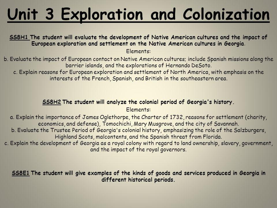 Unit 3 Exploration and Colonization