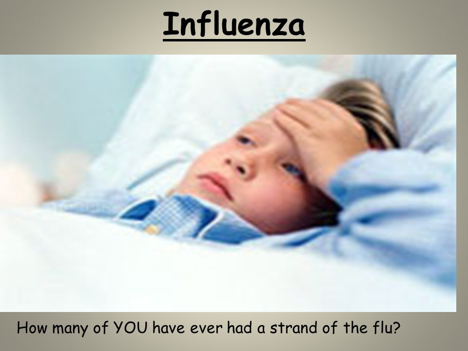 Influenza How many of YOU have ever had a strand of the flu