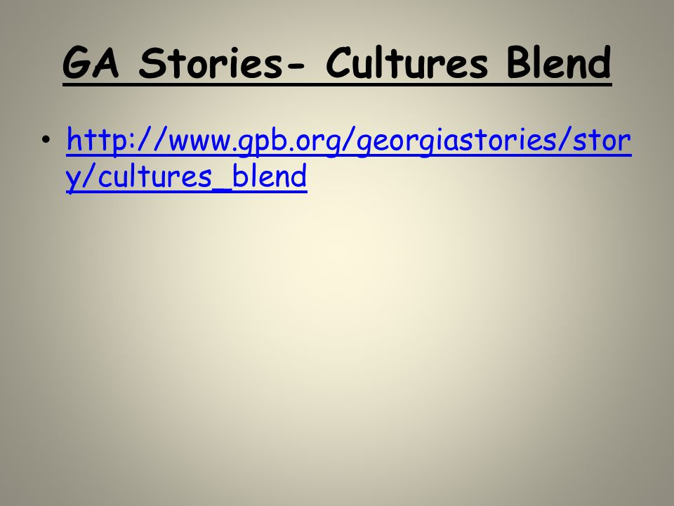 GA Stories- Cultures Blend