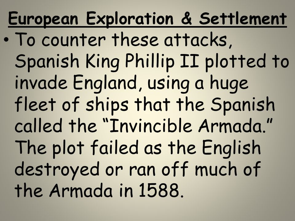 European Exploration & Settlement