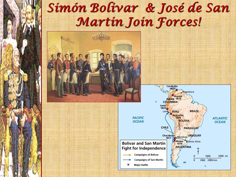 Simón Bolivar & José de San Martin Join Forces!