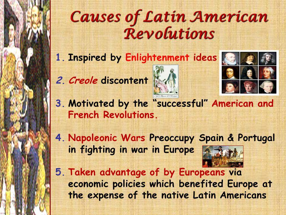 Causes of Latin American Revolutions