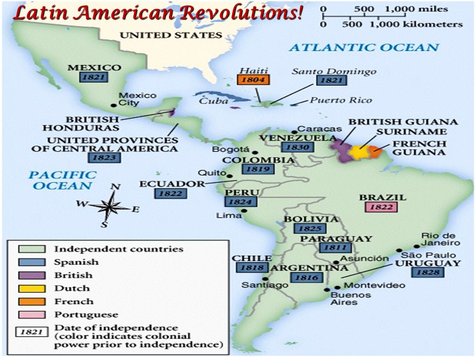 Latin American Revolutions! Latin American Revolutions!