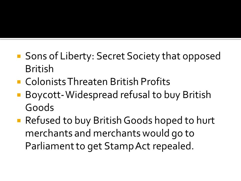 Sons of Liberty: Secret Society that opposed British
