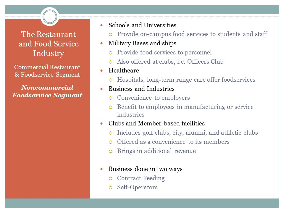 Chapter One Welcome To The Restaurant And Foodservice Industry  Ppt
