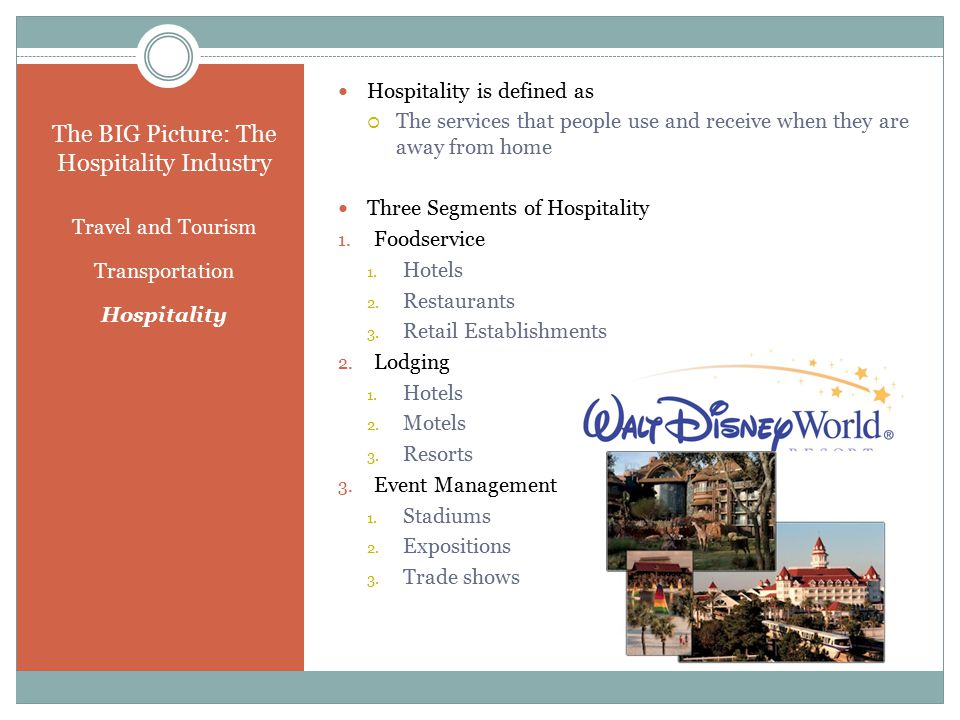 The BIG Picture: The Hospitality Industry