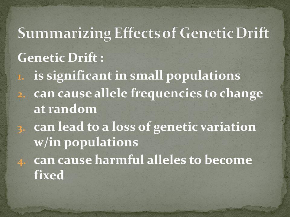 Summarizing Effects of Genetic Drift