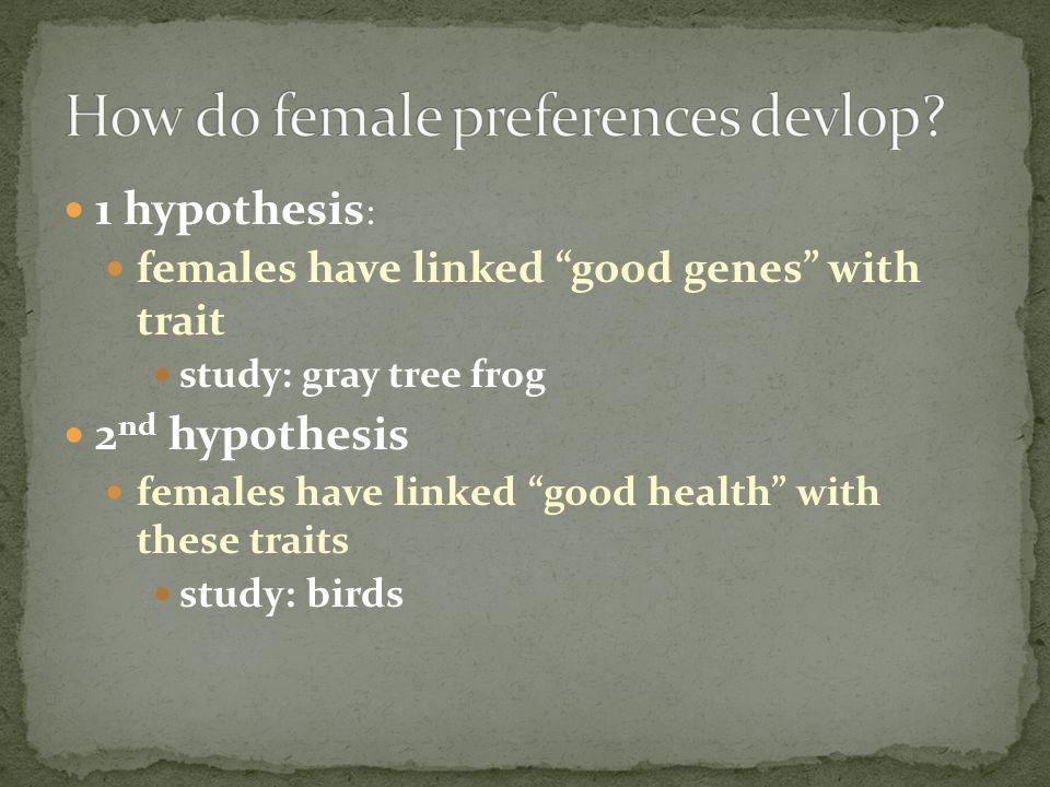 How do female preferences devlop
