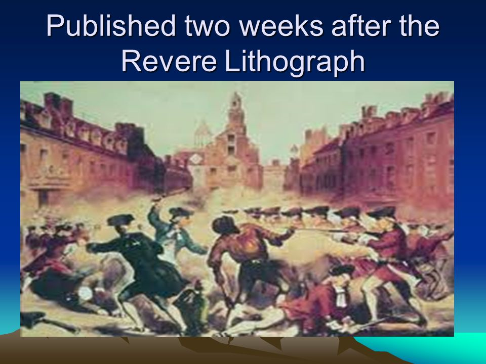Published two weeks after the Revere Lithograph