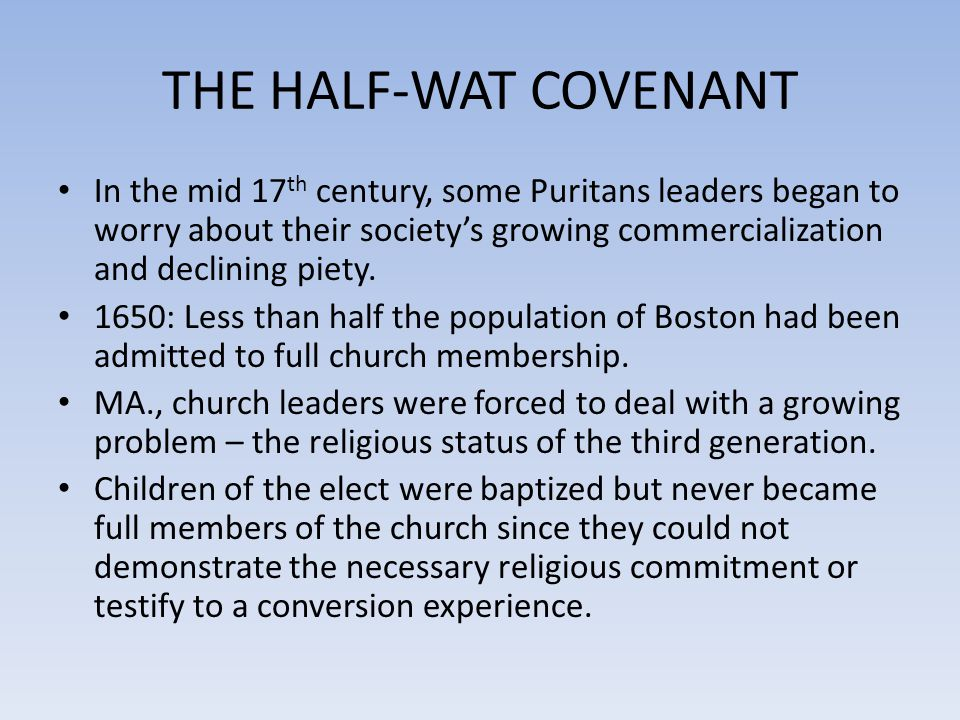 THE HALF-WAT COVENANT