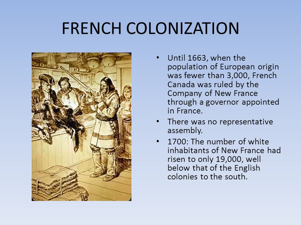 FRENCH COLONIZATION